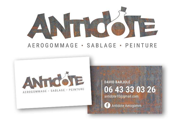 logo antidote aerogommage sablage peinture