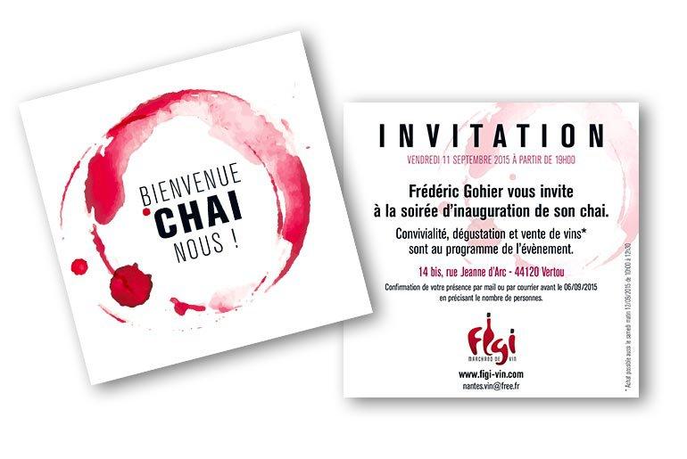 flyer invitation inauguration chai Figi