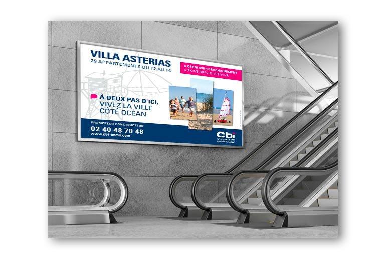 signalétique affiche 4 par 3 villa asterias cbi